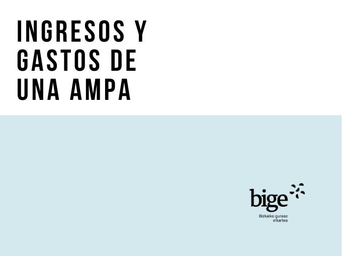 Ingresos y gastos de una AMPA